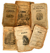 Old Almanacs. — Stockfoto