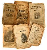 Old Almanacs. — Stock Photo