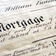 Stock Photo: Old Mortgage
