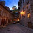 Cobbleston Street Scene in Quebec City - Stok fotoğraf