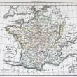 Stock Photo: Antique Map of France