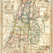 Old Map of the Holy Land - Stock Photo