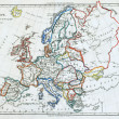 Royalty-Free Stock Photo: Old map of Europe.