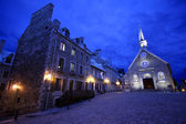Old stone church in Quebec City. — Stock Photo