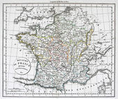 Antique Map of France — 图库照片