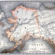 Vintage map of Alaska — Stock Photo