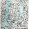 Old Street Map of New York City. — Stock Photo #2305771