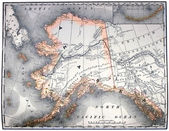 Vintage map of Alaska — Photo