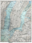 Old Street Map of New York City. — 图库照片