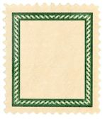 Postage stamp with frame. — Stock Photo