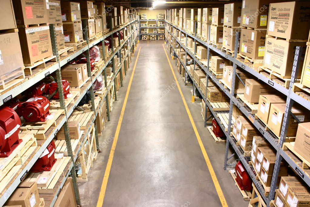 The parts storage warehouse of a manufacturer — Stock Photo #2305537