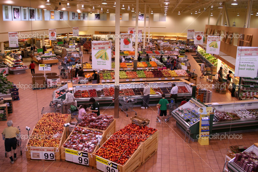 Produce Section of a Large Food Supermarket. — Stock Photo #2305688