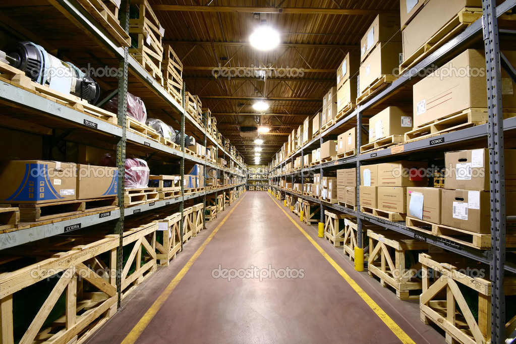 The interior of an industrial manufacturer's warehouse. — Foto Stock #2305793