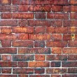 Graffiti Filled Red Brick Wall. — Stock Photo