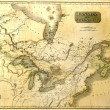 Stock Photo: Old map of North America.