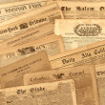 Antike Zeitung Sammlung — Stockfoto