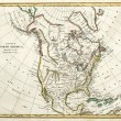 Royalty-Free Stock Photo: Old map of North America.