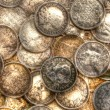 Silver Coin Collection — Stock Photo