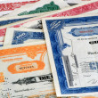 Stock Photo: Old Stock Certifactes.