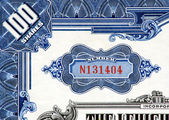 Stock Certificate Close-up. — Stock Photo