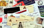 Miscellaneous Business Cards. — Stock Photo