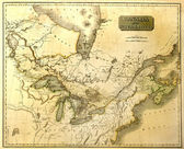 Old map of North America. — 图库照片