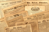 Antique Newspaper Collection — 图库照片