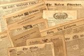 Kolekcja zabytkowych gazety — Zdjęcie stockowe
