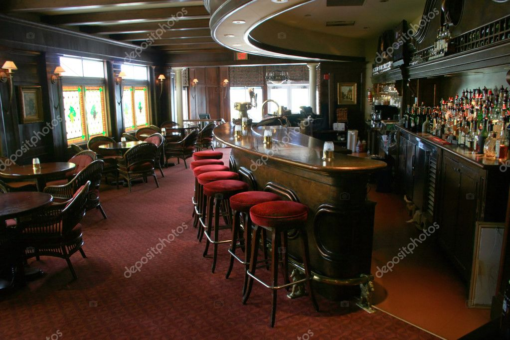 Stools lined up in an upscale tavern. — Stock Photo #2322879