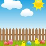 Easter landscape — Stock Vector #2127387