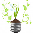 Royalty-Free Stock Vector Image: Bulb with plant of snowdrop
