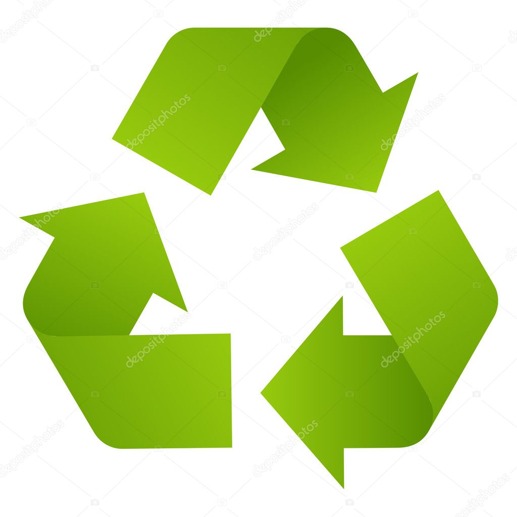 Recycle arrows isolated on white. Vector illustration. — Stock Vector #2127839