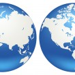 Royalty-Free Stock Imagen vectorial: Globes of Earth