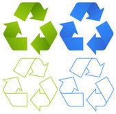 Set of recycling symbols — Stock Vector