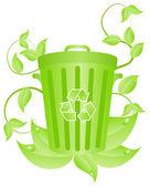 Ecorecycling consept — Stock Vector