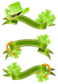 Good luck, st.Patrick's day banner — Stock Vector