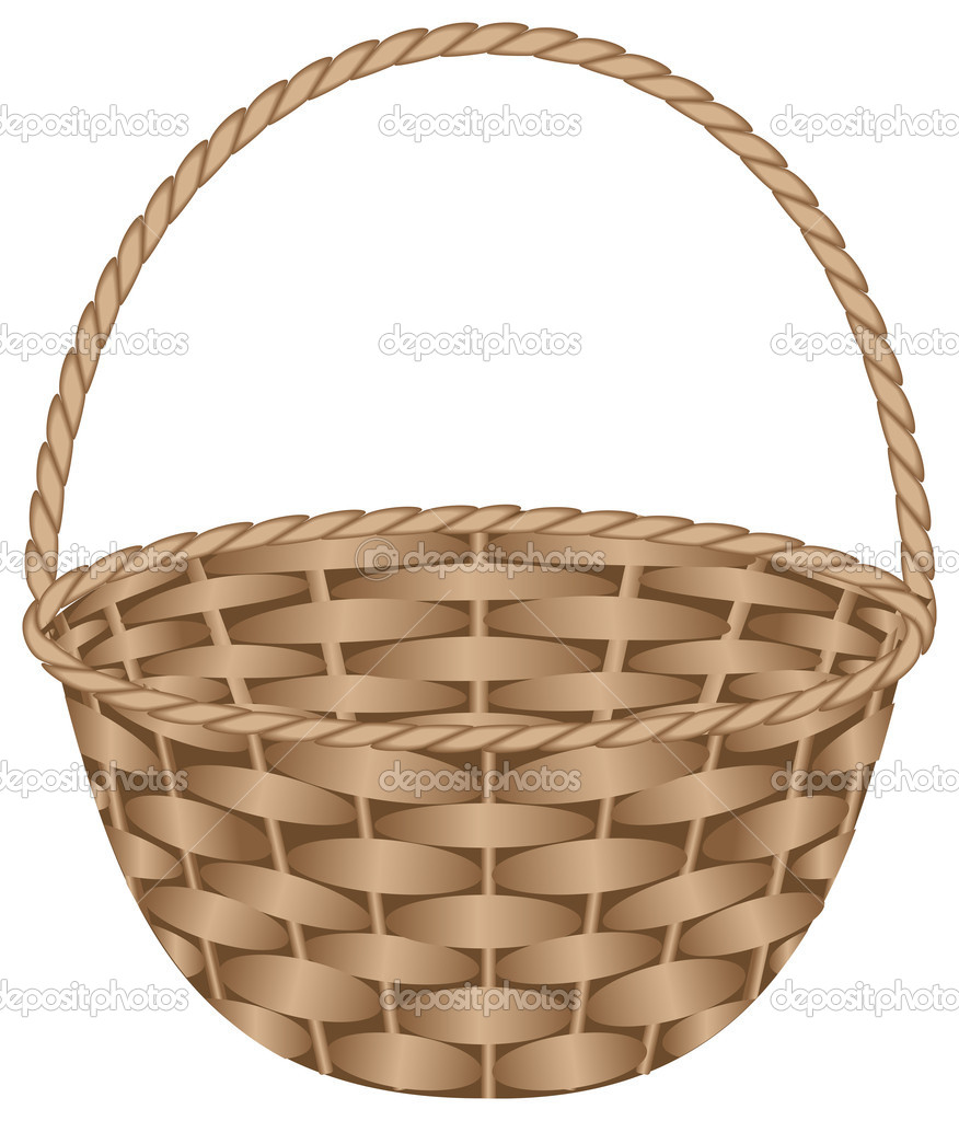 The gallery for empty fruit basket clipart black and white for Clipart basket