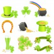 Stock Vector: St. Patrick's Day symbols