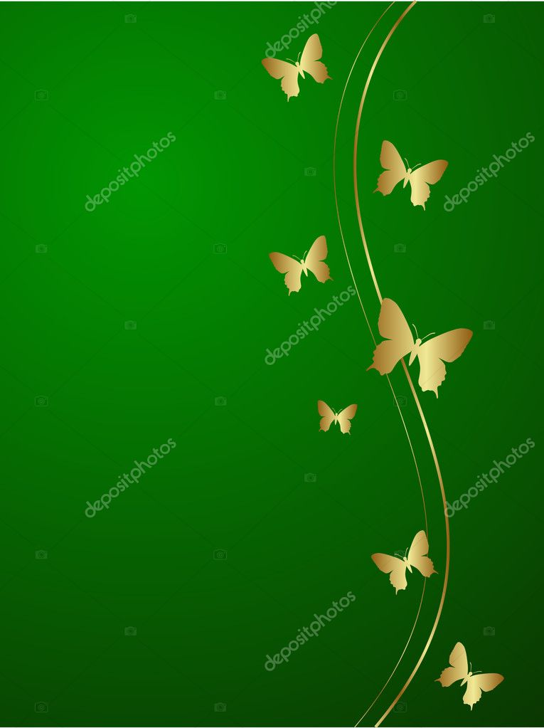 Elegant green background. Vector illustration. — Stock Vector #2578246