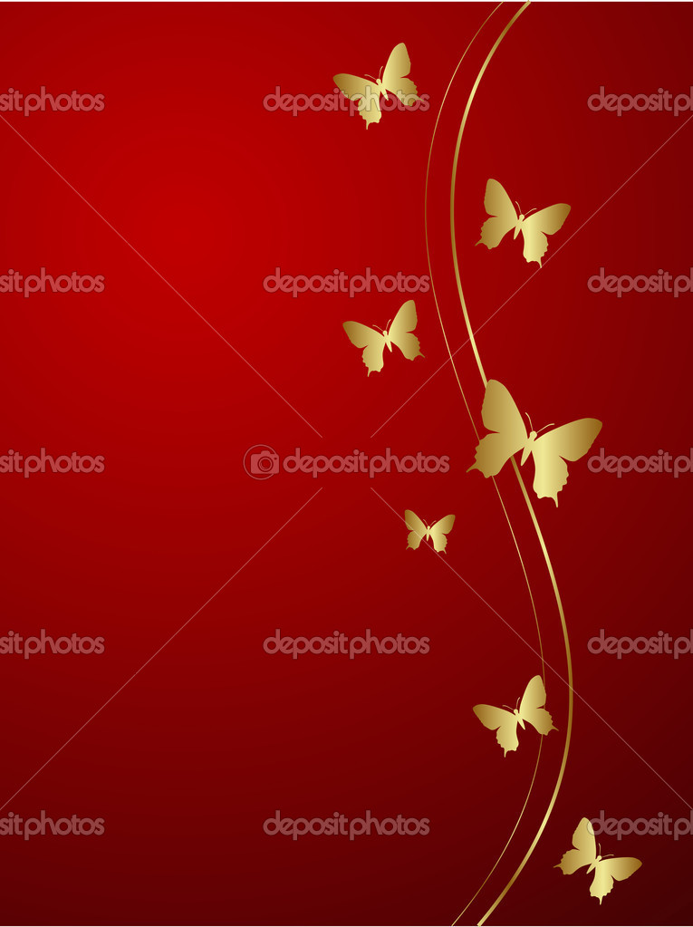 Elegant red background. Vector illustration. — Stock Vector #2578254