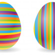 Stock Vector: Striped eggs