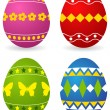 Colored easter eggs — Stock Vector