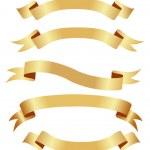 Horizontal golden banners — Stock Vector #2593022