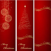 Christmas banners backgrounds — Stock Vector