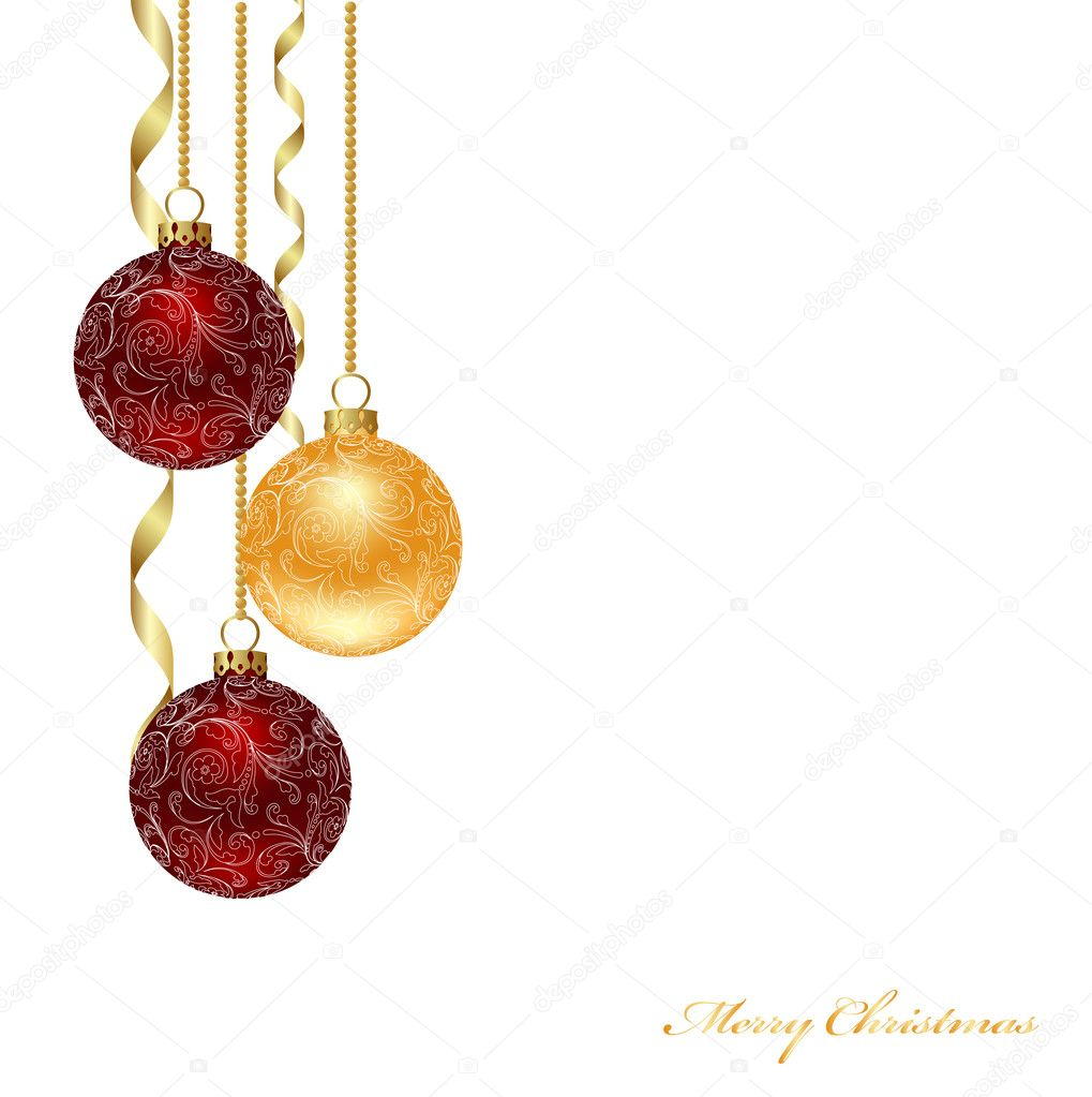 Background with decoration. Christmas background. Vector illustration.  Stock Vector #2624514
