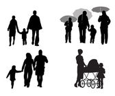 Family on walk — Stock Vector
