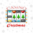 Christmas casino — Stock Photo