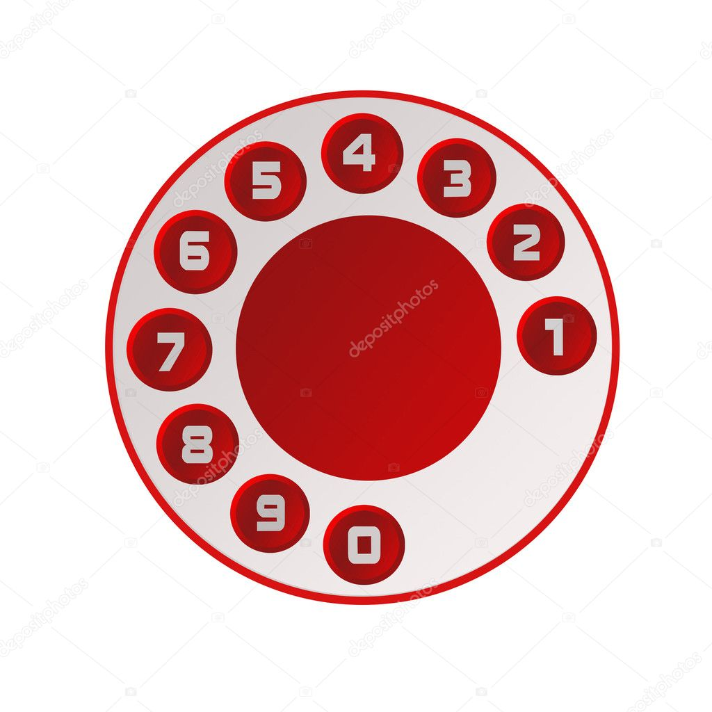 Disk of the telephone with figures — Stock Photo #2410772