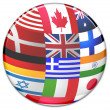 Stock Photo: Sphere from country flags