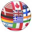 Sphere from country flags — Stock Photo